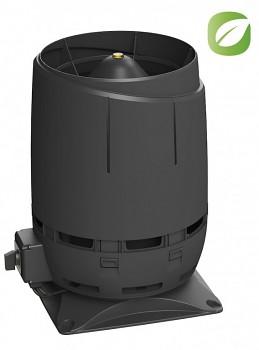 Vilpe ECO125S FLOW + montážní deska 300x300, černá RAL 9005