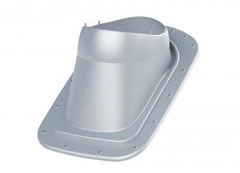 Průchodový prvek pro rovný plech CLASSIC VINO, světle šedá RAL 7040