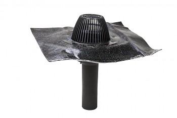 AM střešní vpusť bitumenová manžeta Ø 75, černá RAL 9005
