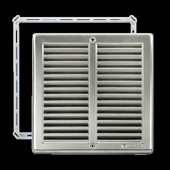 Čtyřhranné mřížky nerez se síťkou NVM 150 x 150